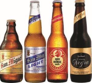 Choose from San Miguel Pale Pilsen, San Mig Light, Red Horse & Cerveza Negra