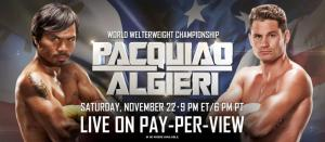 Manny Pacquiao vs Chris Algieri Live Stream HBO PPV